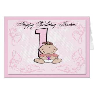 O primeiro aniversário do bebê cartão comemorativo