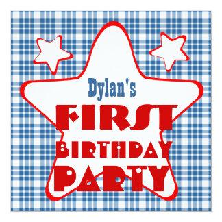 O primeiro bebê de um ano do aniversário Stars o Convite
