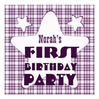O primeiro bebê de um ano do aniversário Stars o r