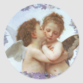 O PRIMEIRO BEIJO, C.1873 William Bourgeau Adesivo