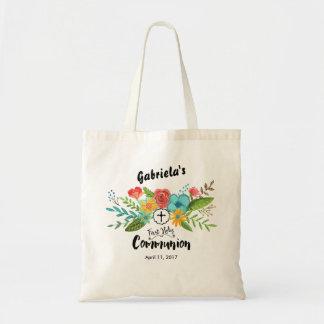 O primeiro bolsa floral do comunhão santamente |