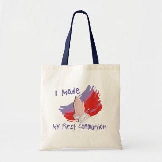 O primeiro comunhão caçoa camisas & presentes bolsas de lona