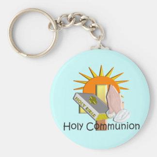 O primeiro comunhão santamente caçoa presentes chaveiros