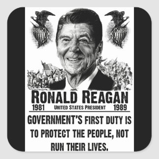 O primeiro dever do governo! adesivo em forma quadrada