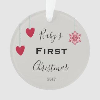O primeiro Natal do bebê 2017 ornamento lindos
