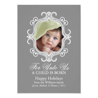 O primeiro Natal do bebê Convite 12.7 X 17.78cm