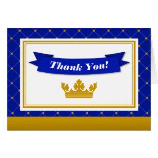 O príncipe cartões de agradecimentos dobrou o