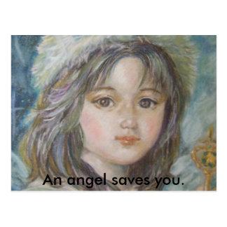 O príncipe do anjo., um anjo salvar o cartão postal