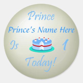 O príncipe (seu nome) é um hoje adesivos redondos