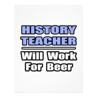 O professor da história… trabalhará para a cerveja panfletos personalizados