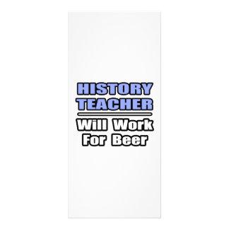 O professor da história… trabalhará para a cerveja panfleto informativo personalizado