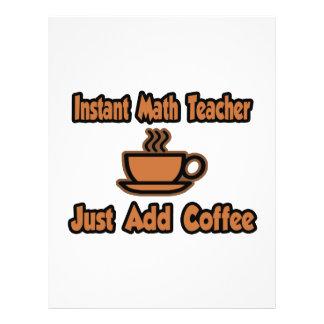 O professor de matemática imediato… apenas adicion panfleto coloridos