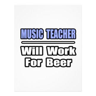 O professor de música… trabalhará para a cerveja panfletos coloridos