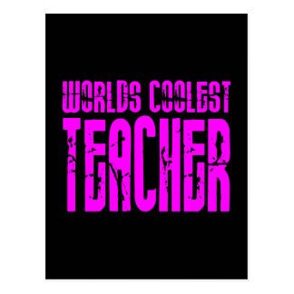 O professor o mais fresco dos mundos cor-de-rosa l cartão postal