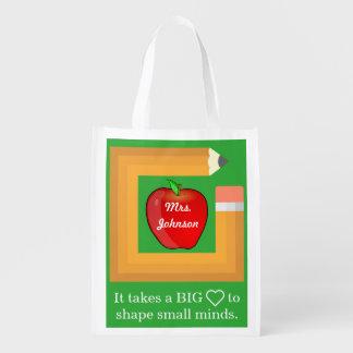 O professor personalizado citações do professor sacolas ecológicas para supermercado