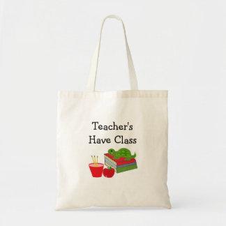 O professor tem a classe bolsa tote
