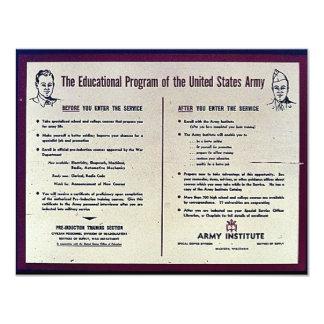 O programa educativo do exército de Estados Unidos Convite Personalizado