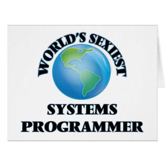 """O programador de sistemas o mais """"sexy"""" do mundo cartão"""