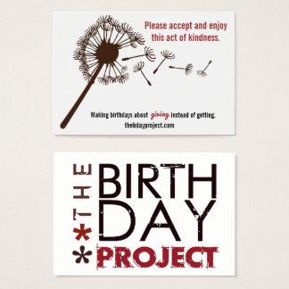O projeto do aniversário Licença-Atrás dos cartões