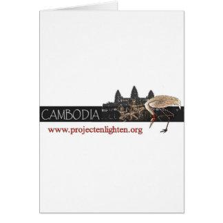 O projeto ilumina o guindaste de Cambodia Sarus Cartão Comemorativo