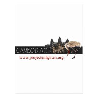 O projeto ilumina o guindaste de Cambodia Sarus Cartão Postal