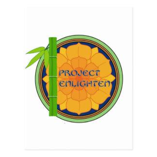 O projeto oficial ilumina a mercadoria cartão postal