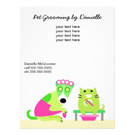 O promocional do Groomer do animal de estimação Panfletos Coloridos