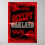 O protesto de OWS OCUPA Oakland Wall Street 99% fo Posters