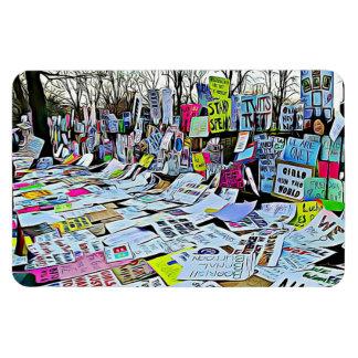O protesto do março das mulheres assina o ímã