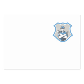 O protetor do mecânico do condicionamento de ar da cartão de visita