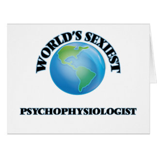 """O Psychophysiologist o mais """"sexy"""" do mundo Cartões"""