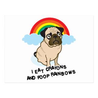 O Pug admite aos arcos-íris pooping! Cartão
