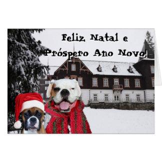 O pugilista natal de Feliz e Próspero Ano Novo per Cartoes