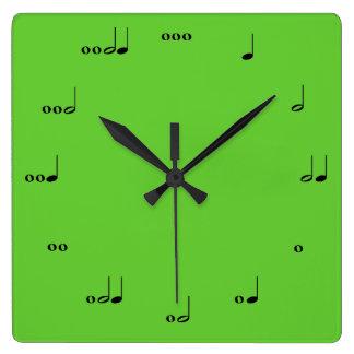 O pulso de disparo da nota da música original relógio quadrado