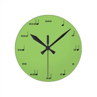 O pulso de disparo da nota da música original relógio redondo