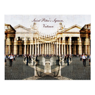 O quadrado de St Peter, cartão do vaticano