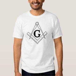 O quadrado e o símbolo da maçonaria dos compassos t-shirts
