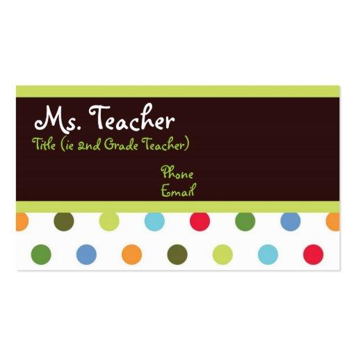O quadril pontilha o cartão de visita do professor