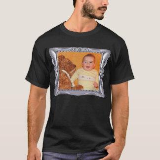 O quadro de prata extravagante adiciona a foto camiseta