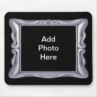 O quadro de prata extravagante adiciona a foto mouse pad