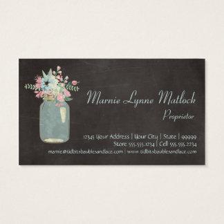 O quadro floresce floral moderno rústico do frasco cartão de visitas