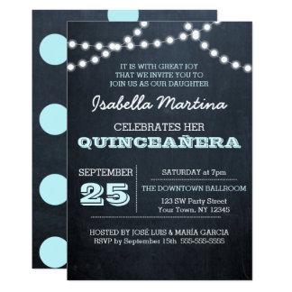 O quadro ilumina o convite de Quinceañera do Aqua