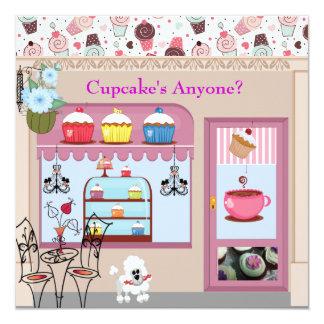 O qualquer um do cupcake convites de festas finos