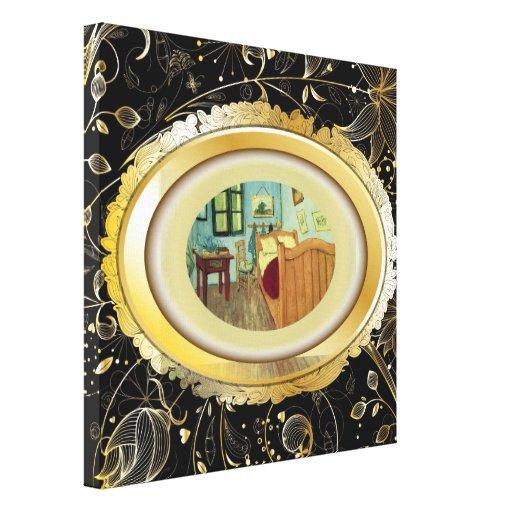 O quarto de Vincent no impressão das canvas de Arl Impressão De Canvas Esticada