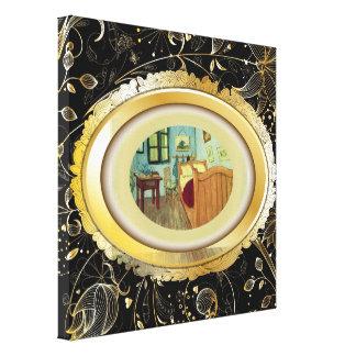 O quarto de Vincent no impressão das canvas de Arl Impressão Em Tela
