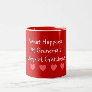 O que acontece em estadas das avós em avós caneca de café em dois tons