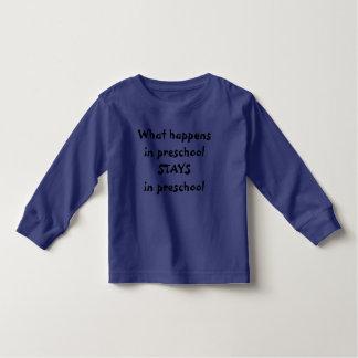 O que acontece em ESTADAS prées-escolar na criança Tshirt