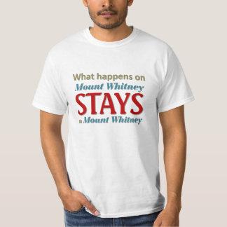 O que acontece em Mount Whitney Camiseta