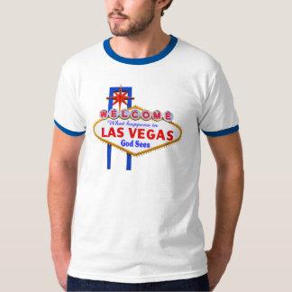 O que acontece no t-shirt da campainha de Vegas