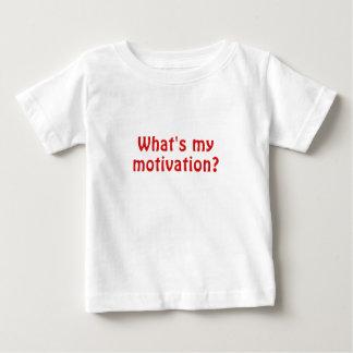 O que é minha motivação camiseta para bebê